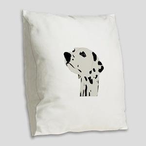 Pes Dalmatian art Burlap Throw Pillow