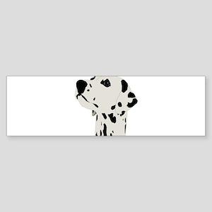 Pes Dalmatian art Bumper Sticker