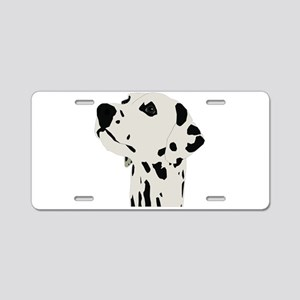 Pes Dalmatian art Aluminum License Plate