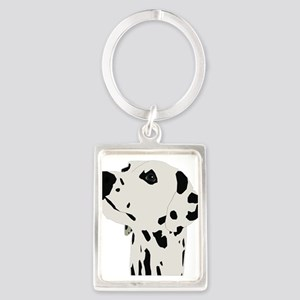 Pes Dalmatian art Keychains