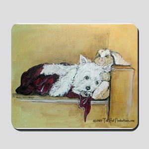 Westie and Bunny Mousepad