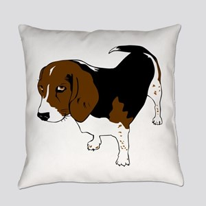 Copper beagle art Everyday Pillow