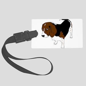 Copper beagle art Large Luggage Tag