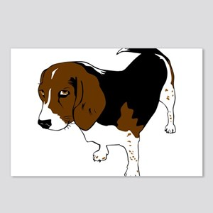 Copper beagle art Postcards (Package of 8)