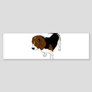 Copper beagle art Bumper Sticker