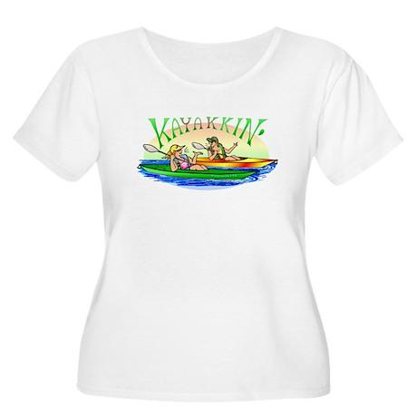 Kayakkin' Women's Plus Size Scoop Neck T-Shirt