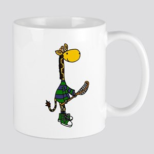 Giraffe Playing Lacrosse Mugs