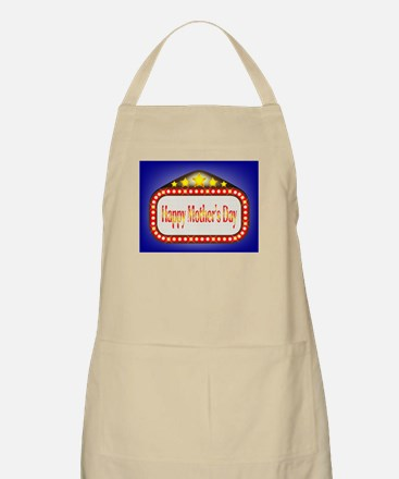 Happy Mothers Day Movie Theatre Marquee Apron