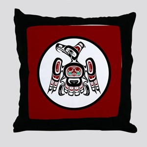 Northwest Pacific coast Kaigani Thund Throw Pillow