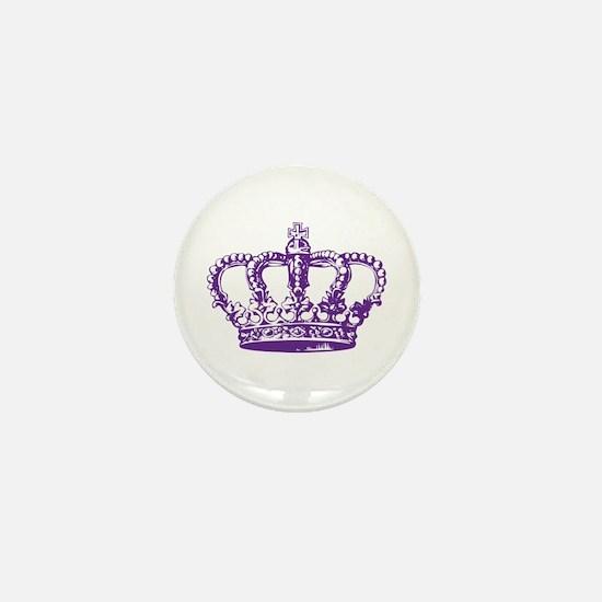 Purple Crown Mini Button