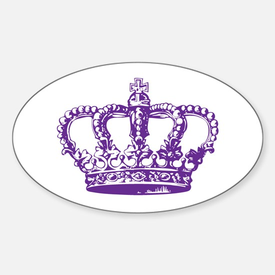 Purple Crown Oval Decal