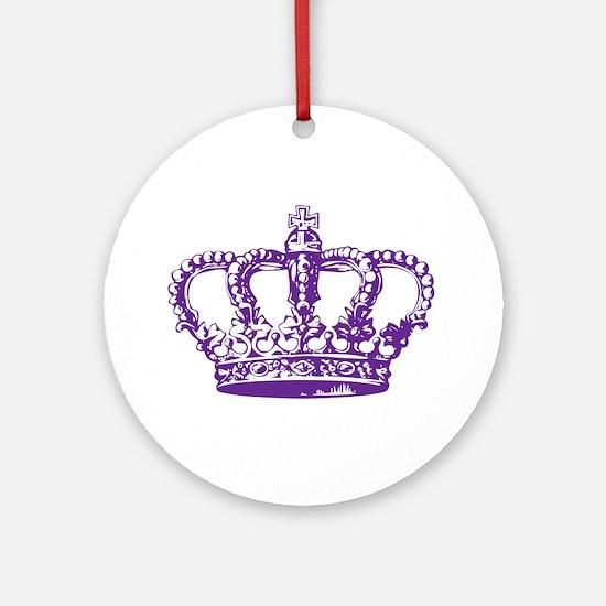 Purple Crown Ornament (Round)