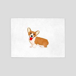 Cute dog staring 5'x7'Area Rug
