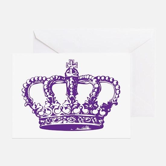 Purple Crown Greeting Card