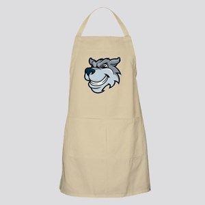 Gray dog head sketch Apron