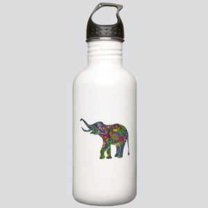 Cute Retro Colorful Fl Stainless Water Bottle 1.0L