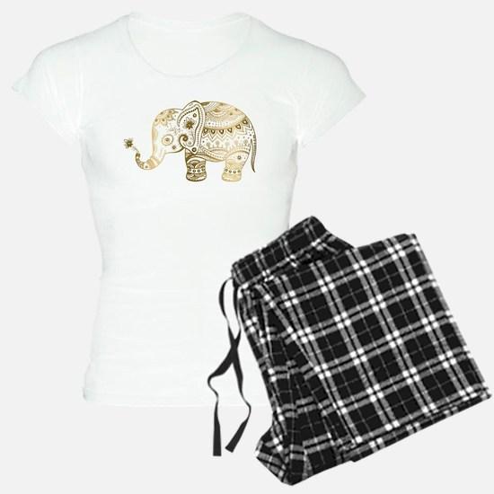 Gold tones cute tribal elep pajamas