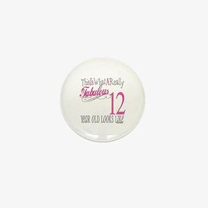 12th Birthday Gifts Mini Button
