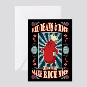 Glorious Red Beans Greeting Card