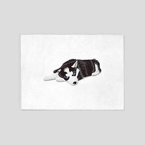 Cute dog sitting 5'x7'Area Rug