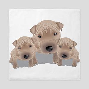 Cute puppies Queen Duvet