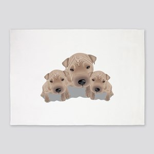 Cute puppies 5'x7'Area Rug