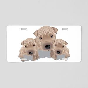 Cute puppies Aluminum License Plate