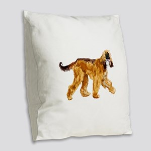 Brown afghan hound Burlap Throw Pillow