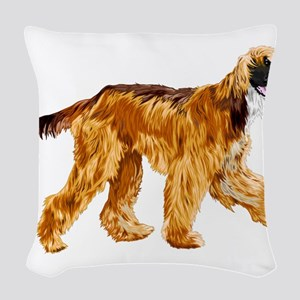 Brown afghan hound Woven Throw Pillow