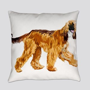 Brown afghan hound Everyday Pillow