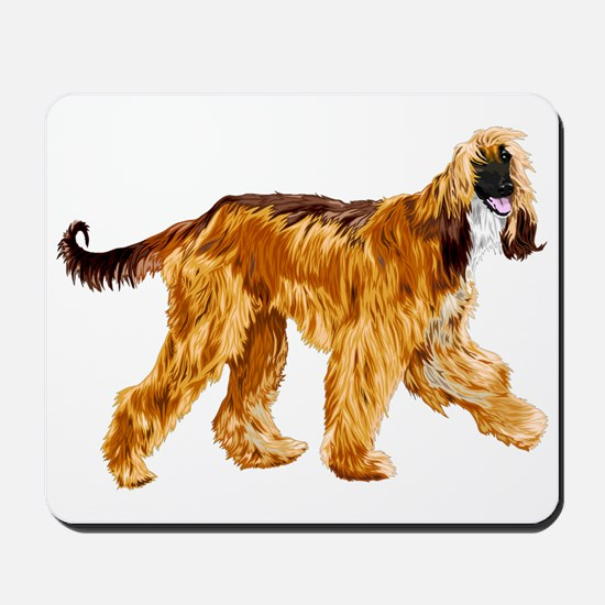 Brown afghan hound Mousepad