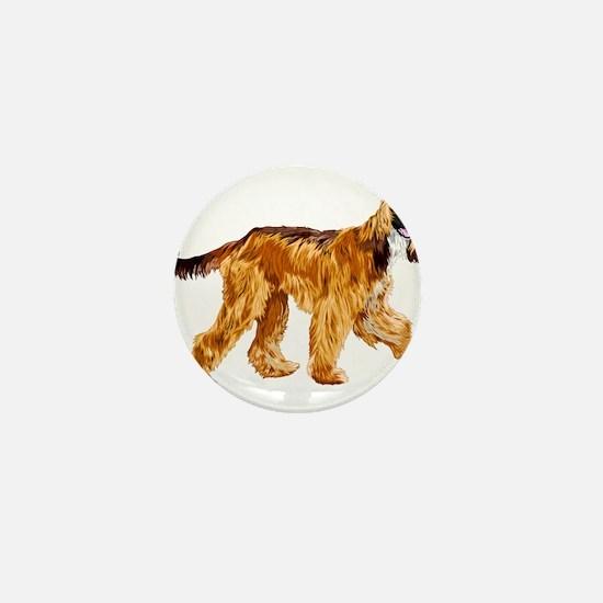 Brown afghan hound Mini Button