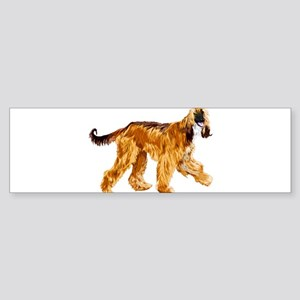 Brown afghan hound Bumper Sticker