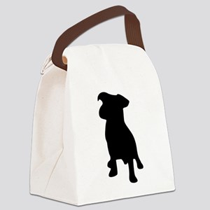 French bulldog silhouette Canvas Lunch Bag