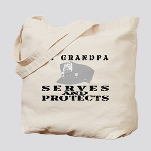 Serves & Protects Hat - Grndpa Tote Bag