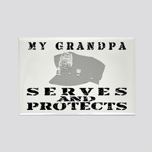 Serves & Protects Hat - Grndpa Rectangle Magnet