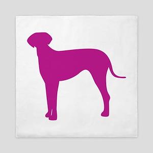 Italian greyhound dog silhouette Queen Duvet