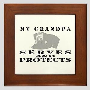 Serves & Protects Hat - Grndpa Framed Tile