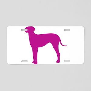 Italian greyhound dog silho Aluminum License Plate