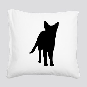 German shepherd dog silhouett Square Canvas Pillow