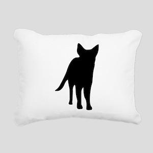 German shepherd dog silh Rectangular Canvas Pillow