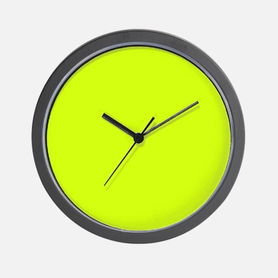 Neon Yellow Solid Color Wall Clock