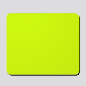 Neon Yellow Solid Color Mousepad