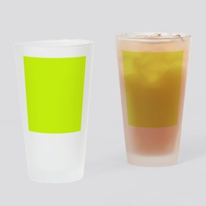 Neon Yellow Solid Color Drinking Glass