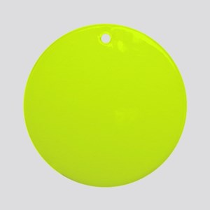Neon Yellow Solid Color Round Ornament