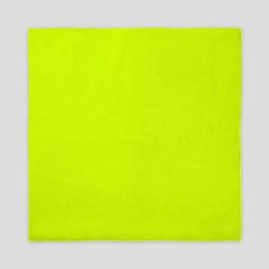 Neon Yellow Solid Color Queen Duvet