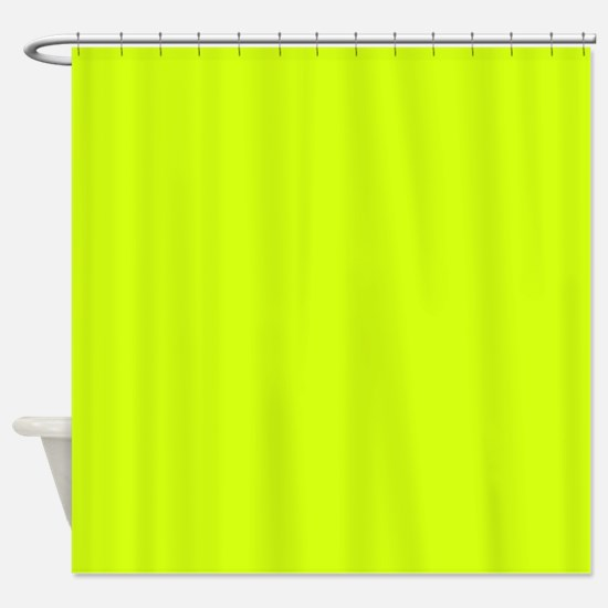 Neon Yellow Solid Color Shower Curtain