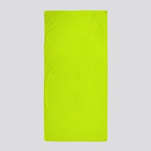 Neon Yellow Solid Color Beach Towel