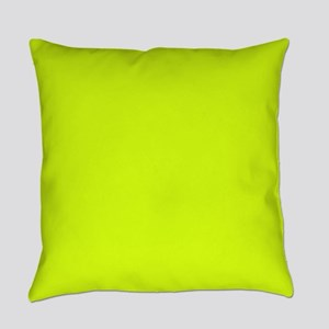 Neon Yellow Solid Color Everyday Pillow