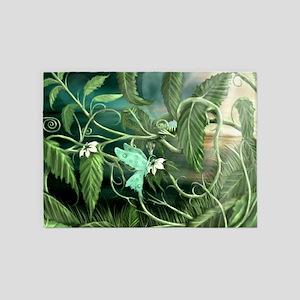 lily leaf dragon 5'x7'Area Rug